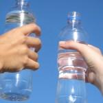 Licht aus recycelten Plastikflaschen