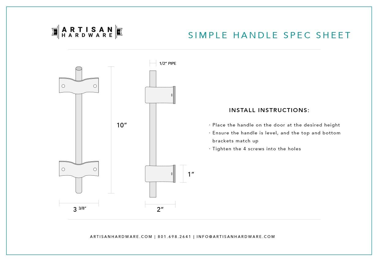 Simple Barn Door Handle