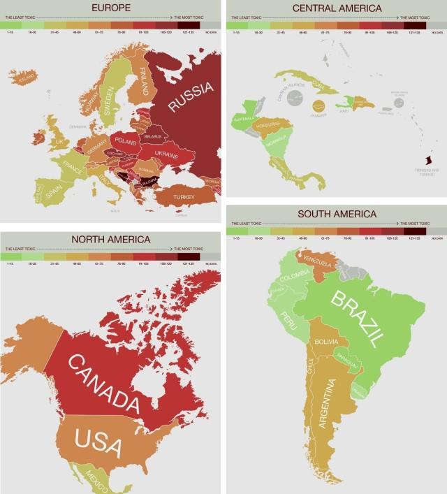 contaminacion en continentes