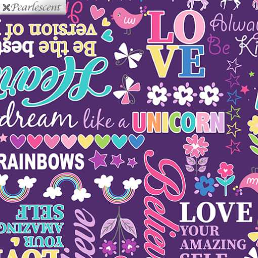 benartex_pearl_magical_words_purple