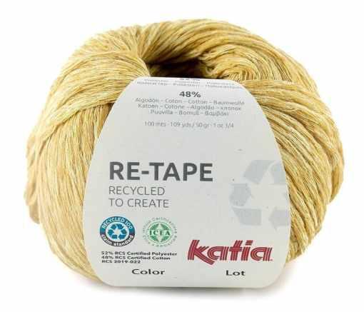 lana-hilo-retape-tejer-poliester-reciclado-de-botellas-de-plastico-algodon-mostaza-primavera-verano-katia-206-fhd
