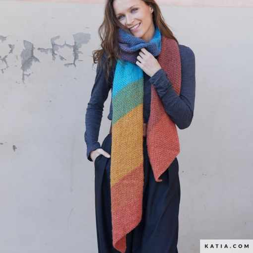 patron-tejer-punto-ganchillo-mujer-bufanda-otono-invierno-katia-8032-460-g