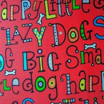 tela mascarillas patchwork letras divertidas