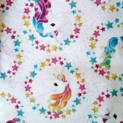 tela patchwork mascarillas unicornios arcoiris glitter