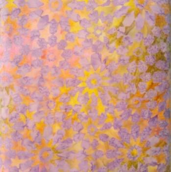 tela patchwork mascarilla flores gardenia