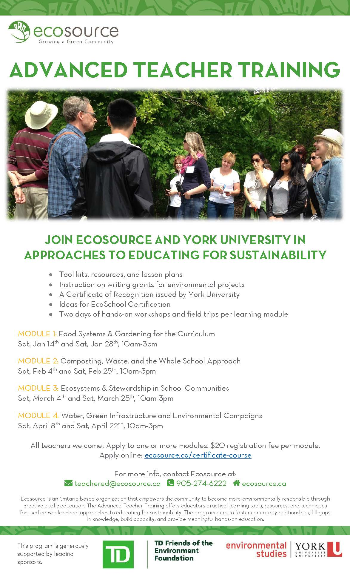 MODULE 4: Water, Green Infrastructure and Environmental Campaigns