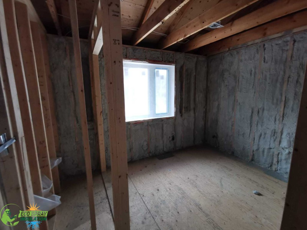 Exterior wall Insulation using spray foam insulation form Soprema
