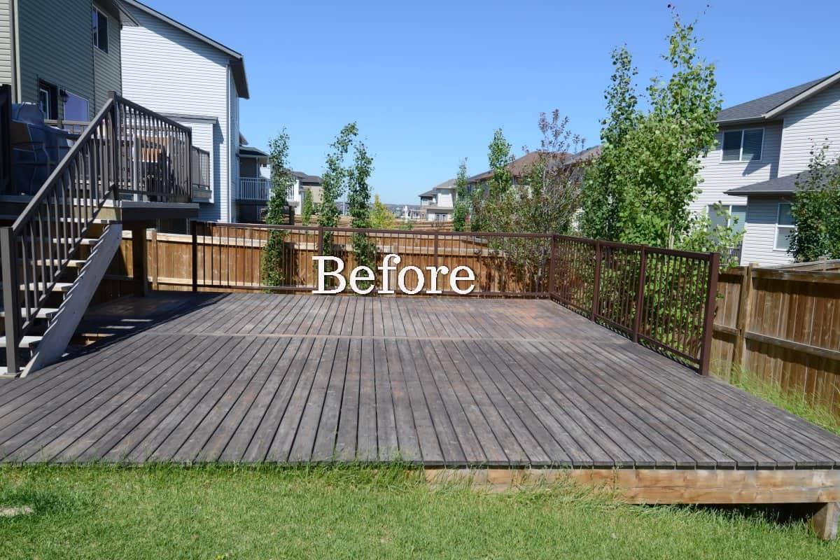 Cedar Deck Restoration In Calgary Eco Star Painting