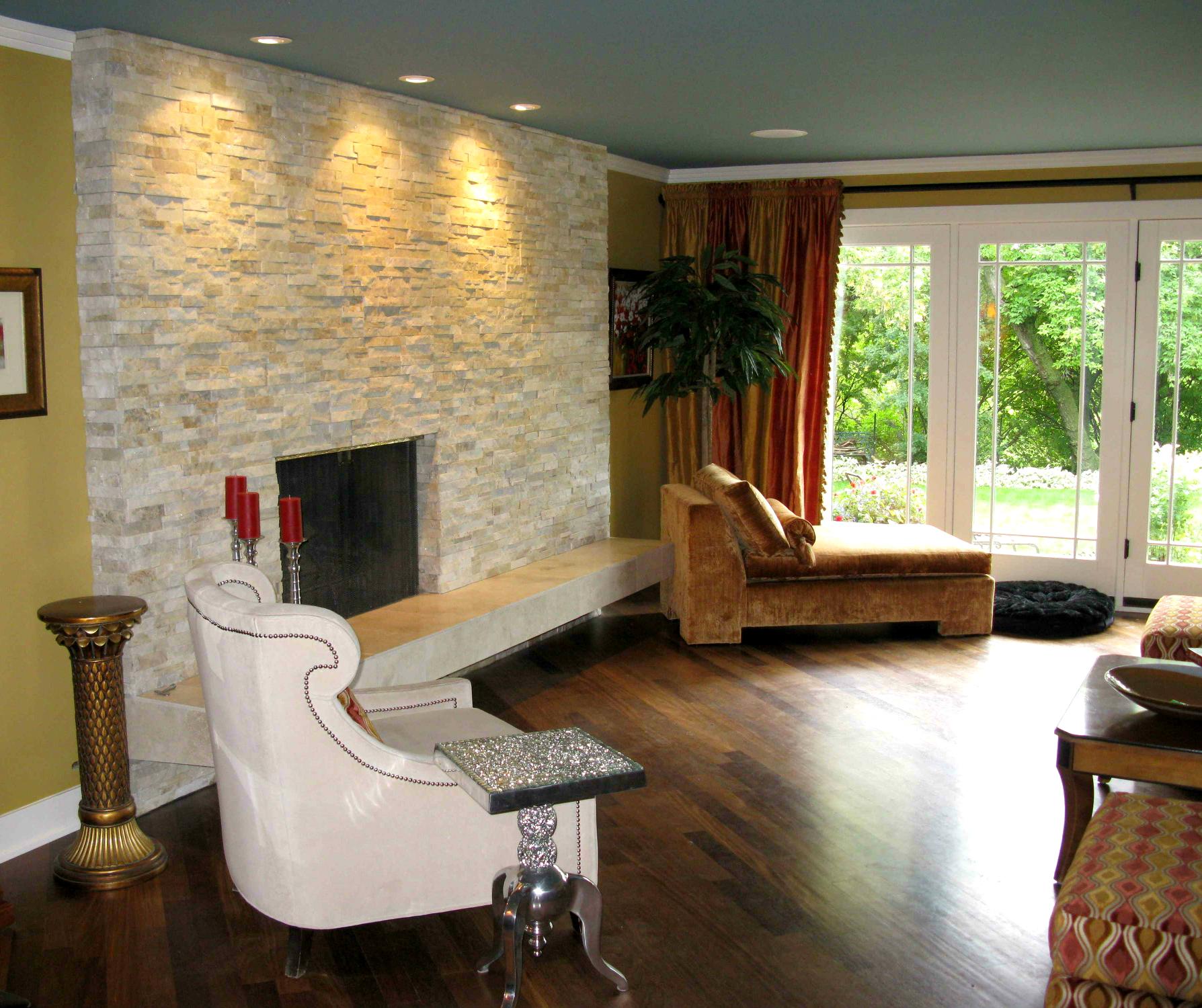 Elegant Natural Stone Fireplace  Ecostone Products
