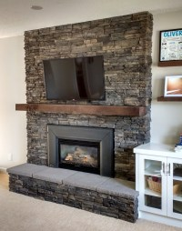 Fireplace with Hearth (Brick cover up) - Ecostone Products