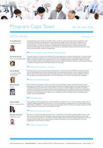 List of Speakers GIE Cape Town
