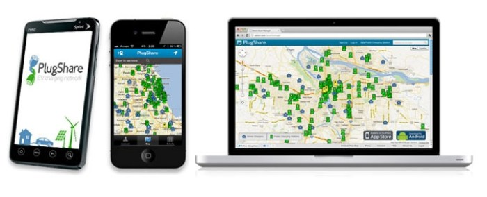 PlugShare Multiple Screens