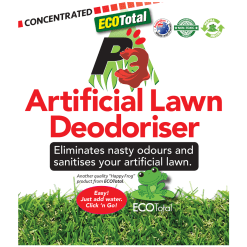 ECOTotal Australia safe and natural P3 Artificial Lawn Deodoriser product label