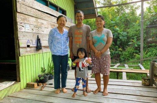 family in borneo