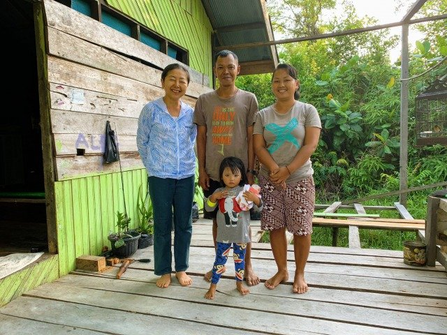family in borneo