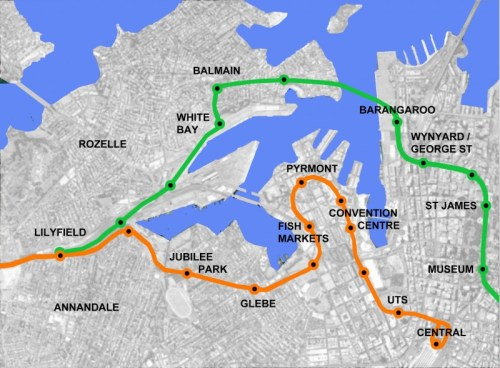 Balmain Light Rail Stage Two - Barrangaroo White Bay Green Link