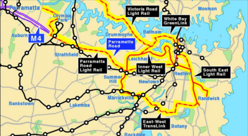 Sydney Light Rail Orbital Map