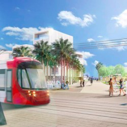 An artist's impression of the Newcastle light rail