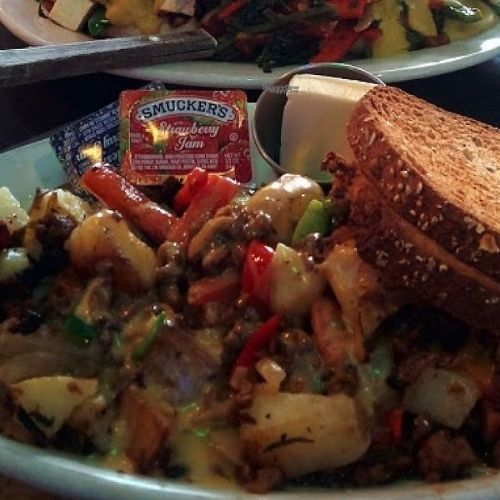toast Smuckers on vegetable dish