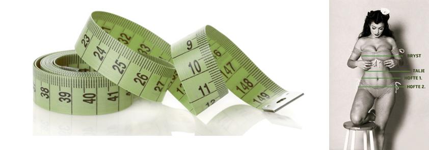 tøjstørrelser og mål