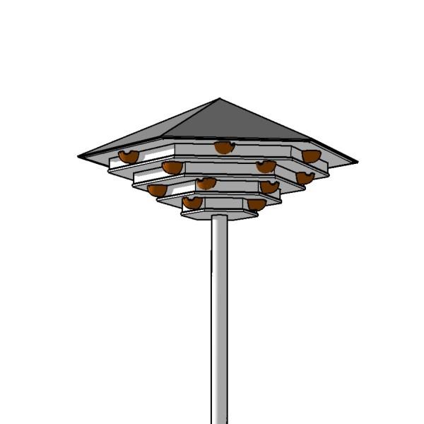 technische tekening van een zwaluwtil in vlaanderen, België, voor de huiszwaluw