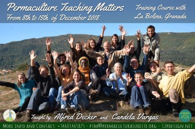 Permaculture Teaching Matters Training Course La Bolina, Granada Poster