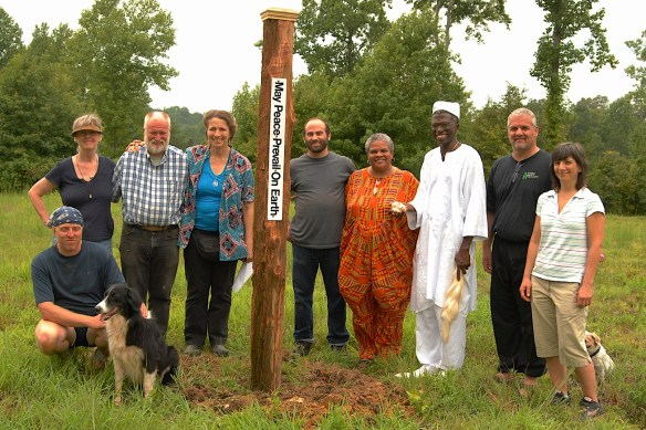 #64 Peace Pole group shot