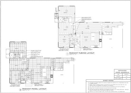 Ecowarm Radiant Floor Heating Layout greater than 1600