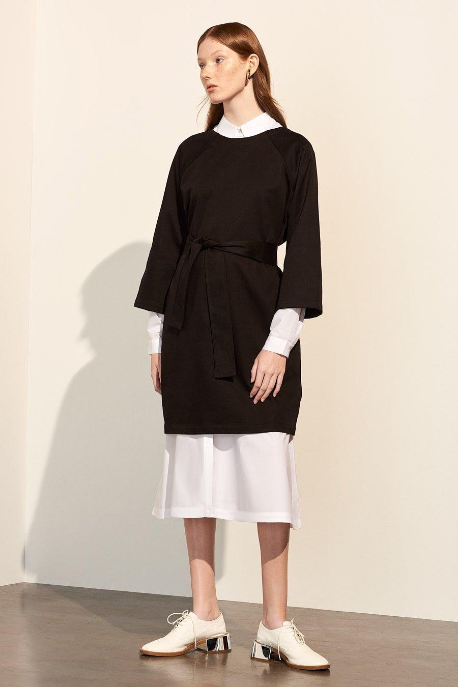 Kowtow Technique Black Sustainable Dress