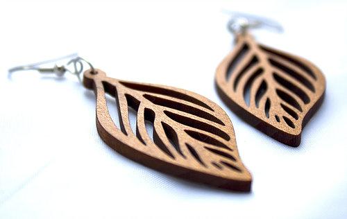 Multiverse Designs Cellular Leaf Earrings Sustainable Jewellery New Zealand