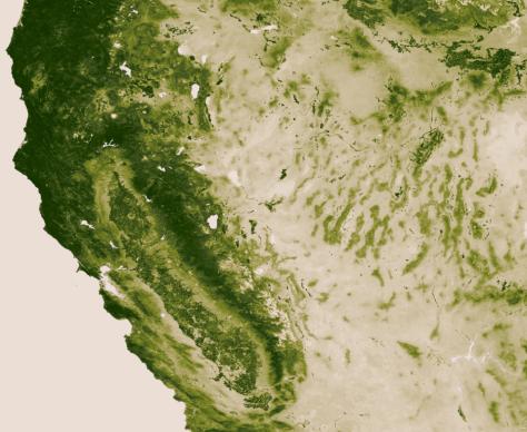 NASA vegetation California