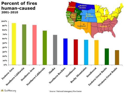 Regional wildfire cause