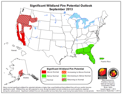 Wildland fire potential outlook