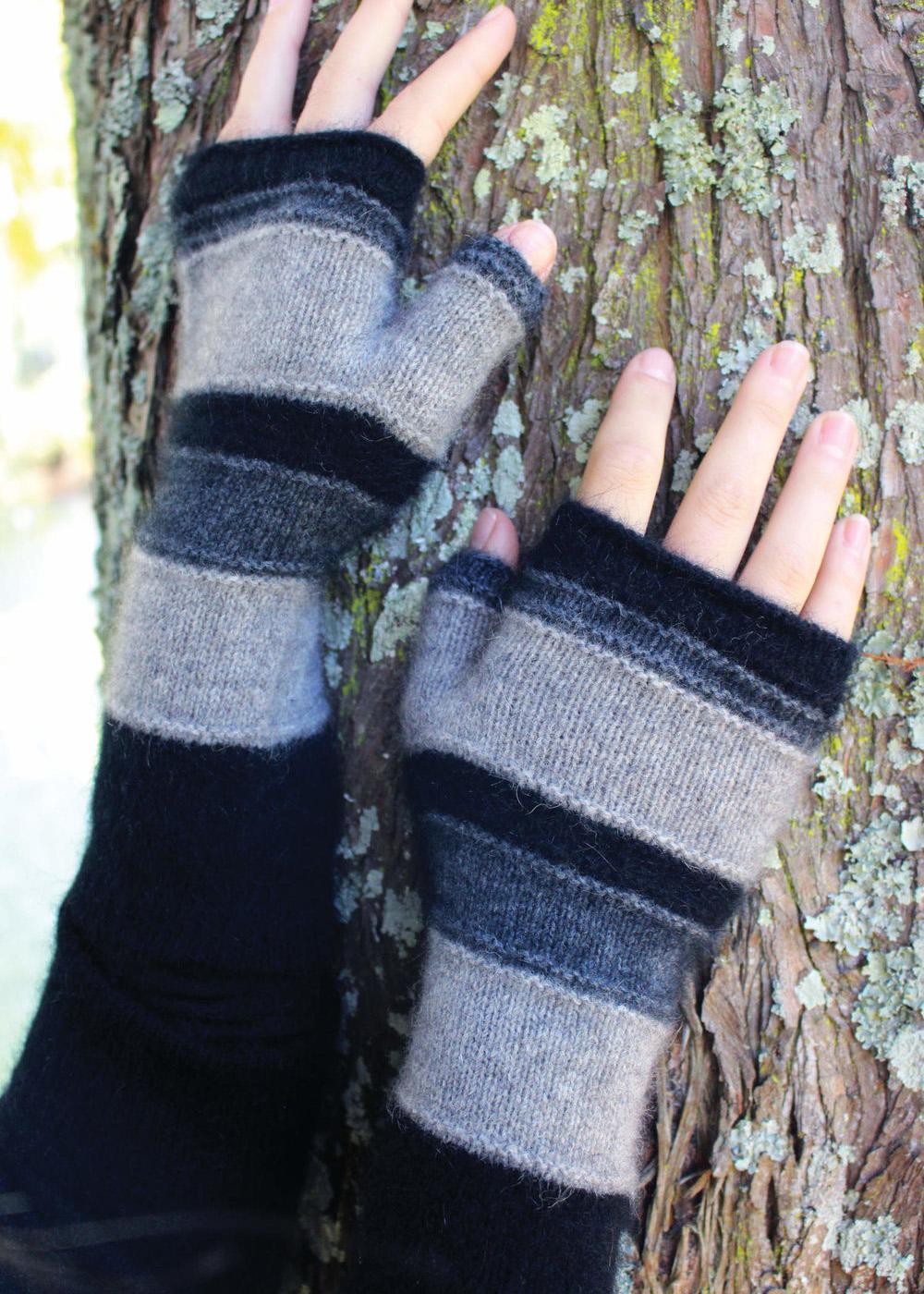 Fingerless Mittens : fingerless, mittens, Possum, Merino, Taupo, Fingerless, Mittens, Womens, Gloves, Ecowool
