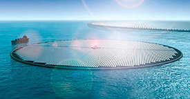 Giant Floating Solar Farms