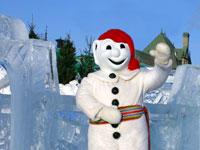Quebec Winter Carnival 2010 Mascot Bonhomme