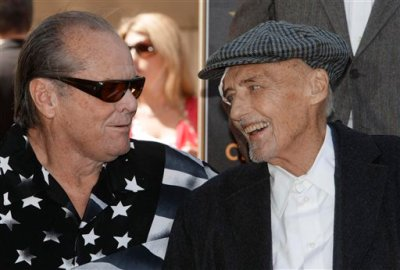 """Jack Nicholson and Dennis Hopper, two of the stars of the iconic 1969 """"Easy Rider"""" film, in March 2010"""