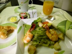 Eva Air dinner service