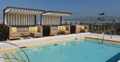 Wilshire Hotel Los Angeles rooftop pool
