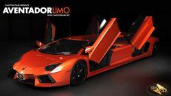 Lamborghini stretch limousine for rent