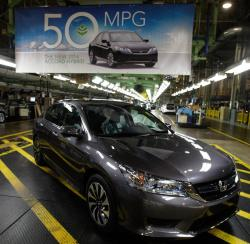2014 Honda Accord Hybrid gets 50MPG