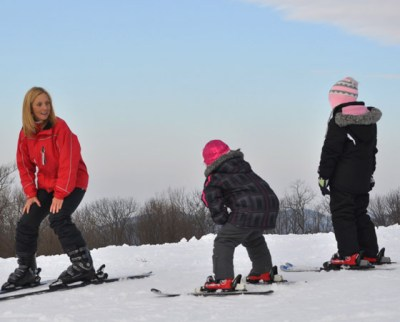 learn to ski or snowboard month