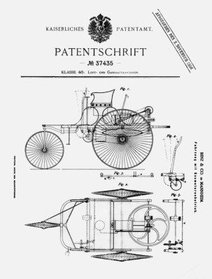 Carl Benz patent for motorized wagon