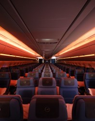 Lufthansa new in-flight mood lighting