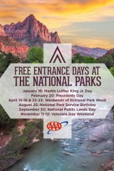 Free Entry to US National Parks on Feb. 20