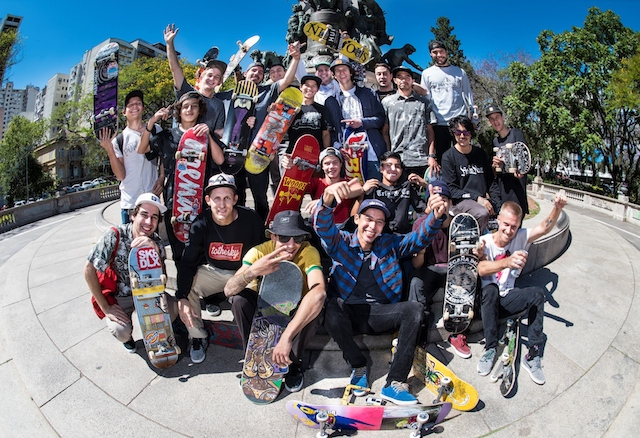 Participants at the Red Bull Skate Arcade Global Finals 2016 in Porto Alegre, Brazil on November 4-5, 2016