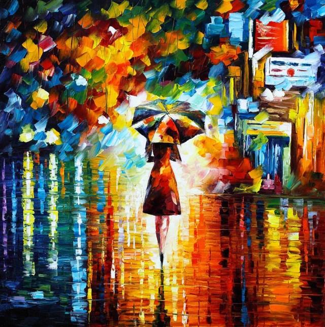 Rain Princess by Leonid Afremov