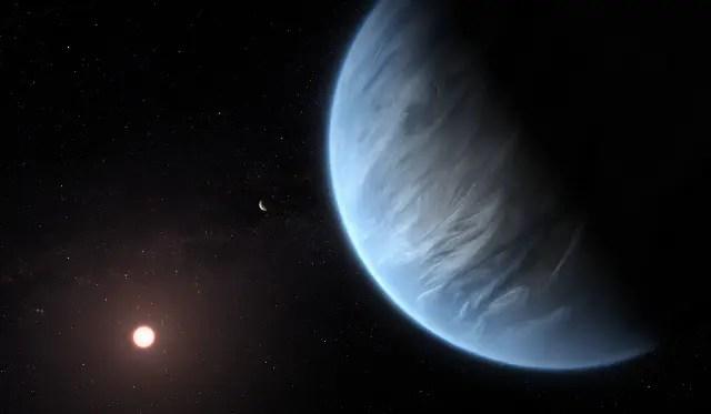 Exoplanet K2 18b (Artist's Impression)