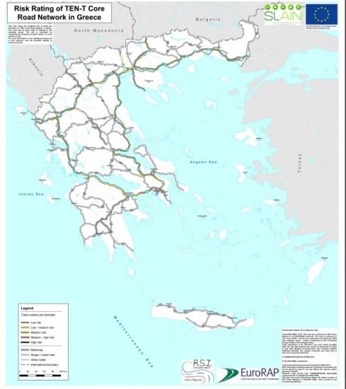 Οι χάρτες με τα πιο επικίνδυνα σημεία των ελληνικών δρόμων
