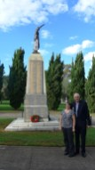 Image of the memorial, Chris and Annette at Pioneers Memorial Park Leichhardt, Anzac Day 2015 - ecperkins.com.au